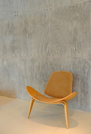 parkett: chair and wall Stock Photo