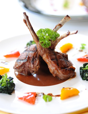 lamb chop: lamb for dinner