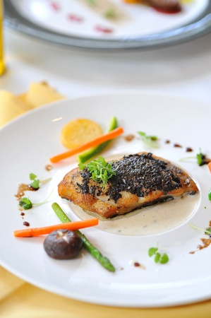fish steak for dinner photo