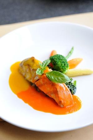 fish steak  photo