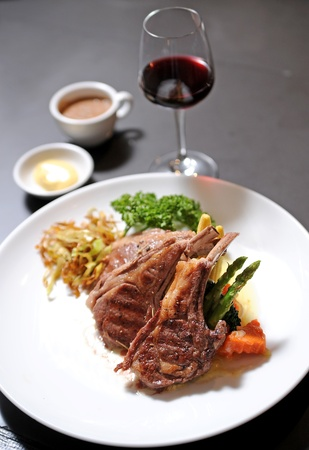 lamb and wine photo