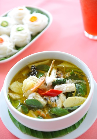green curry - thai cuisine photo