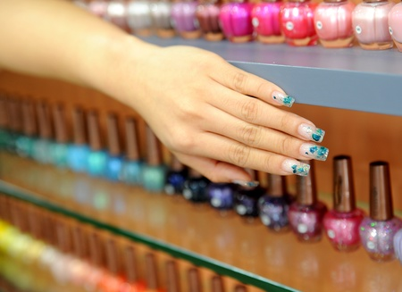 nail art: image of nail polish. Varnish set Stock Photo