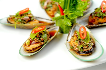 Mussels spicy photo