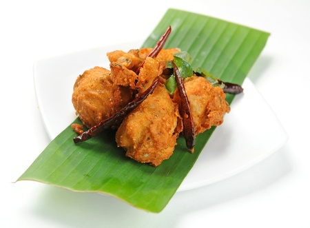 fried snack: fried chicken with red pepper
