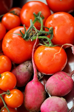 tomato and beetroot photo