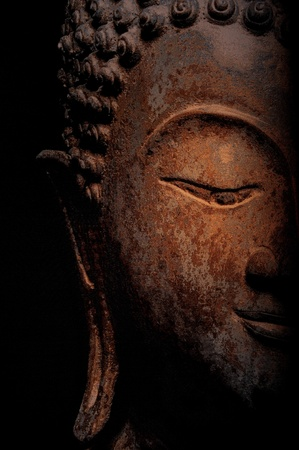 philosophic: Face of a Buddha Statue