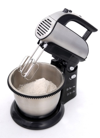 kitchen tool: pastry dough in mixer machine