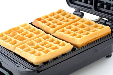 freshly baked sugar waffles  photo
