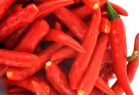 fresh red chili peppers Stock Photo - 10047073