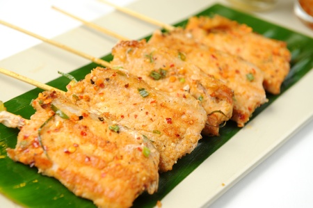 Asian grilled pork, Thai food photo