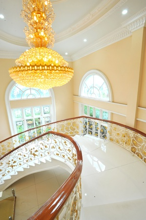 staircase structure: Luxurious Spiral Staircase