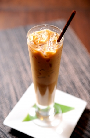 Cold coffee drink with ice Stock Photo - 10344940