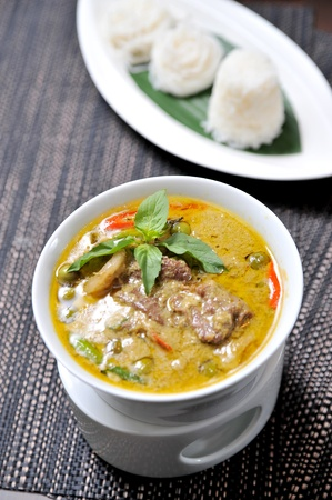 curry chicken: A blow of Thai beef green curry