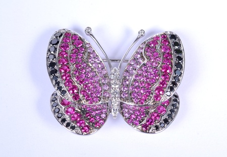 fake diamond: butterfly