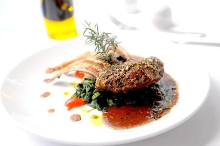 lamb steak Banque d'images