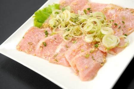 thinly: Korean cuisine, freshness Karubi beef Stock Photo