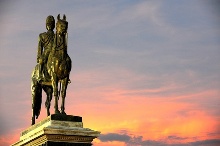 thai believe: The monument of King Rama Five of Thailand Stock Photo