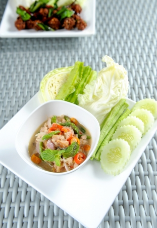 Nam Prik thai food photo