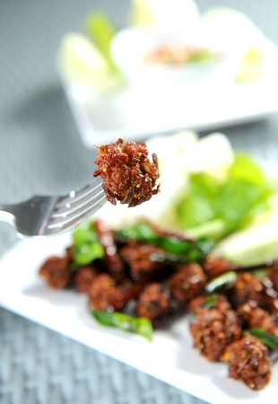hiss: fried meat with vegetables Stock Photo