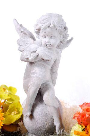 Bébé Cupidon avec des ailes d'ange Banque d'images - 10538034
