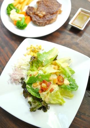 potato tuna: Caesar salad with eggs