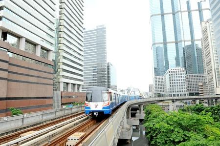 arrives: sky train arrives at station