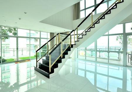 foyer: Modern interior design of white