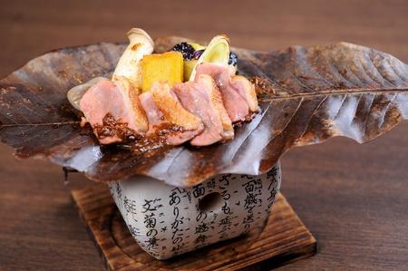 Japanese skewered chicken,Yakitori .closeup photo