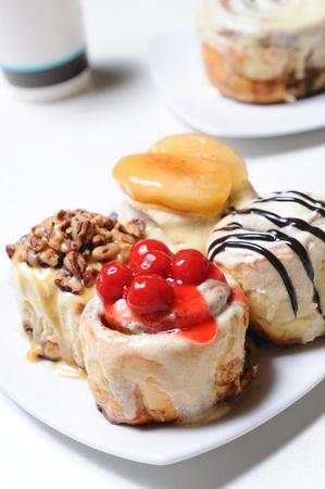 Cake dessert in the plate