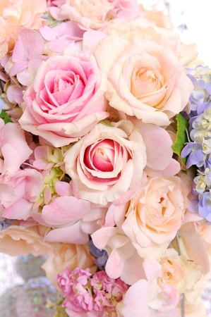 mixed flower and roses photo
