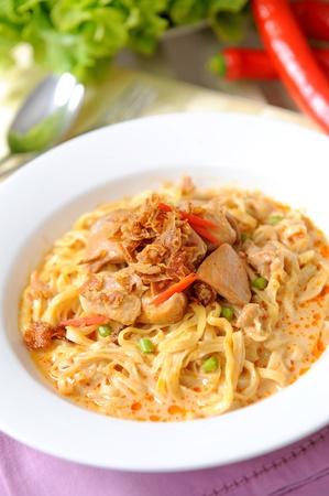curry noodle - khao soi - thai food photo