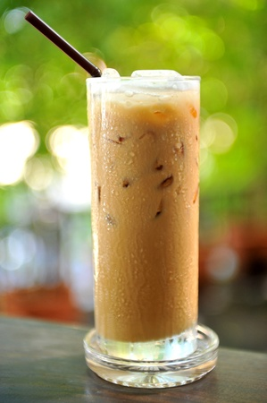 Cold coffee drink with ice Stock Photo - 10913210