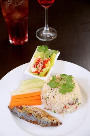 fish and rice photo