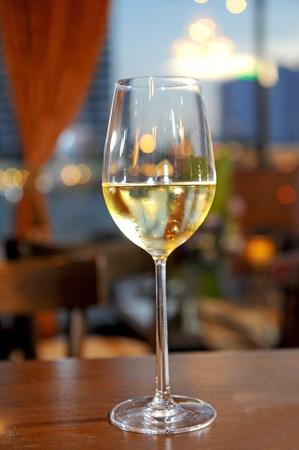 muscadet: white wine on the sky backgroud Stock Photo