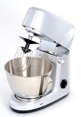 domestic kitchen: electric mixer Stock Photo