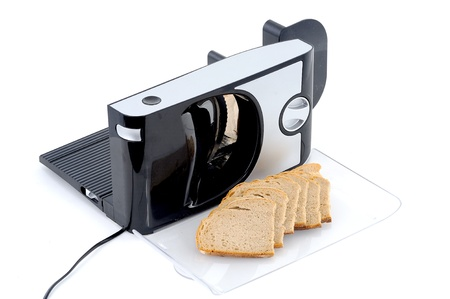 SLICER: Slicer and bread Stock Photo