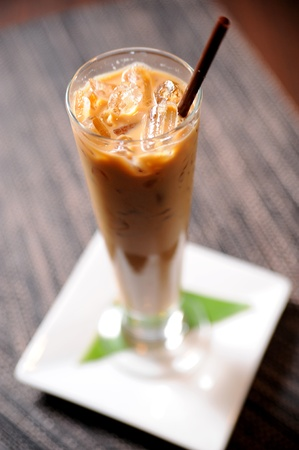 ice cream glass: ice coffee
