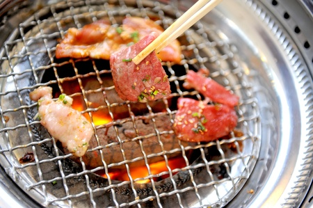 jerk: Piece of tasty meat from the grill