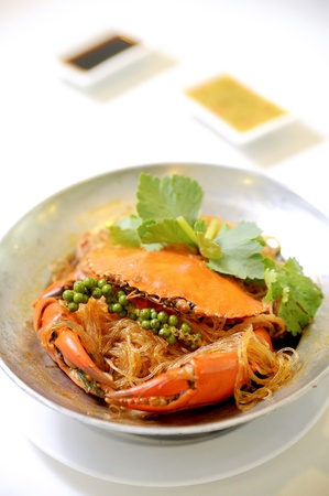 crab meat: Thai dish - crab and noodle