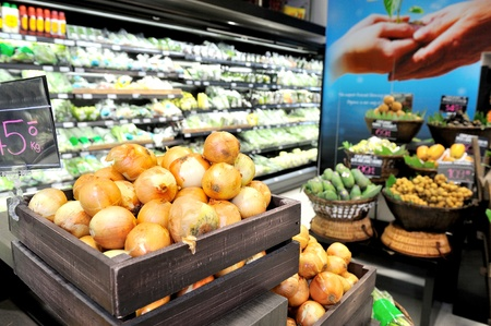 health food store: Big market for fresh vegetable