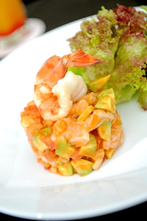 salad or apetizer with shrimp photo