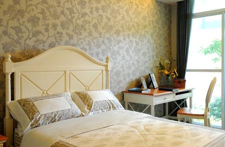 Piękna sypialnia Zdjęcie Seryjne