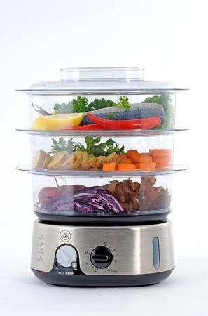 evaporacion: vapor de cocina con verduras y pescado