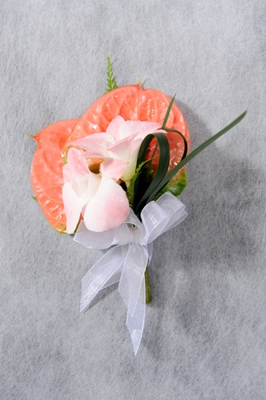 natural flower corsage for prom photo