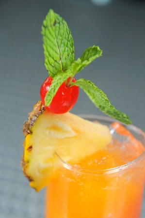 Cocktail with Cherry photo
