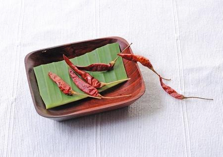 hot red pepper in white dish , closeup Stock Photo - 11532080