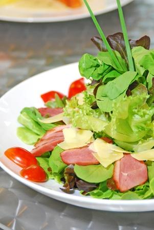 greens salad close up 스톡 콘텐츠