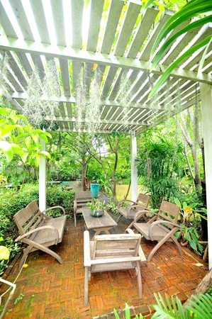 Outdoor dining area photo