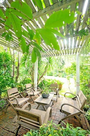 garden furniture: chairs in the garden